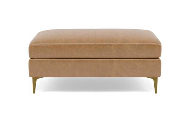 SLOAN LEATHER Leather Ottoman / Palomino Pigment-Dyed Leather - Interior Define