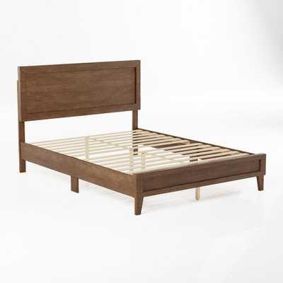 Leah Classic Wood Platform Bed - Queen - Southern Oak - Home Depot