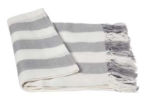 Stripe Linen Throw Blanket - Wayfair