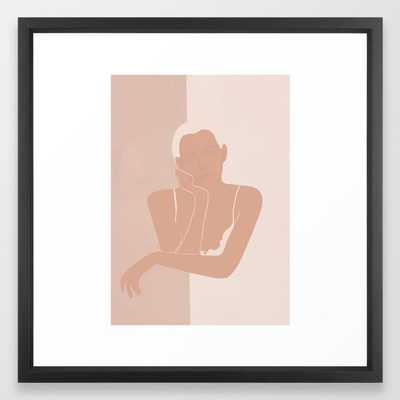 Minimal illustration of a Woman Framed Art Print - Society6