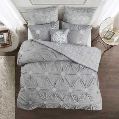 Quarles Embroidered Cotton Reversible Comforter Set - Wayfair