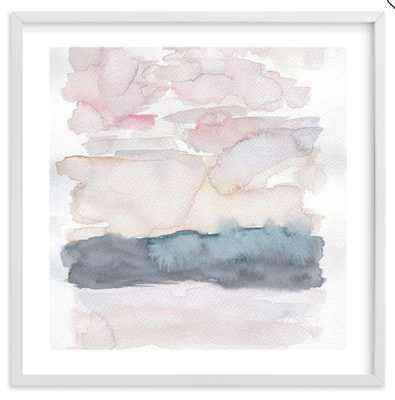 Hebridean Sunset No 1 Wall Art by Minted(R), 24 x 24, White - Pottery Barn Teen
