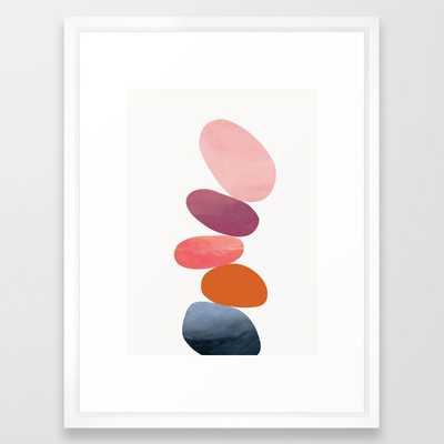 Balancing Stones 23 Framed Art Print - Society6