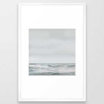 White Day Framed Art Print - Society6