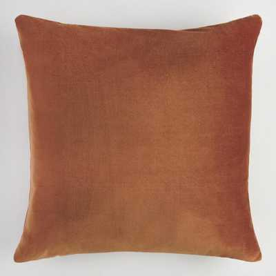 Copper Velvet Throw Pillow - World Market/Cost Plus