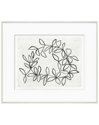 SKETCHED WREATH Framed Art - McGee & Co.