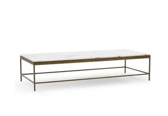 VIENNA LARGE RECTANGLE COCKTAIL TABLE - Marble & Antique Brass - Mitchell Gold + Bob Williams