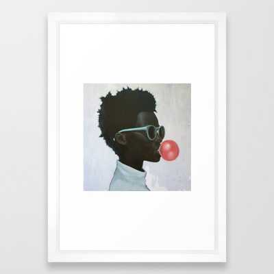 """How far is a light year? Framed Art Print by Alexander Grahovsky with Scoop White Frame 15 x 21"""" - Society6"""