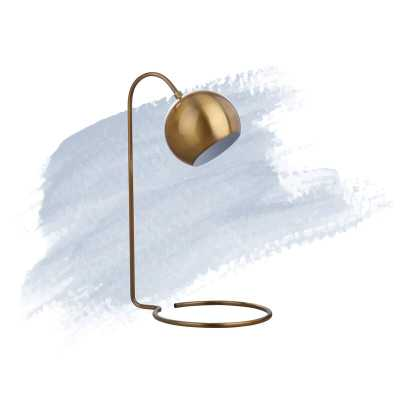 "Gold Shania 22"" Desk Lamp - Wayfair"