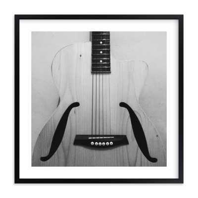 "Music speaks - 16"" x 16"" - Black Wood Frame w/ White Border - Minted"