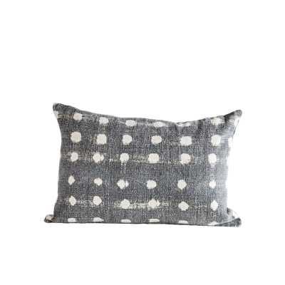 Dunlap Slub Polka Dot Cotton Lumbar Pillow - AllModern