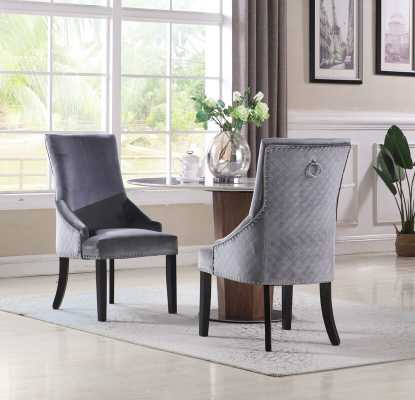 Broseley Diamond Button Tufted Upholstered Dining Chair- set of 2 - Wayfair