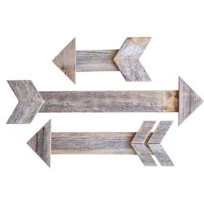3 Piece Decorative Wood Arrow Wall Décor Set - Wayfair