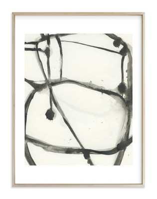 plant cell 3 art // 30x40 // white border // matte brass frame - Minted
