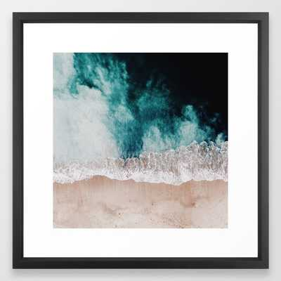 "Ocean (Drone Photography) Framed Art Print by Clay & Sand - 22""x22"" - Society6"