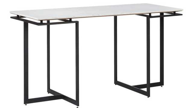 fullerton modular desk with 2 legs - CB2