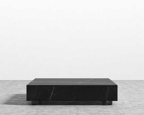 "Liza Coffee Table - Black Marble, 40"" x 60"" - Rove Concepts"