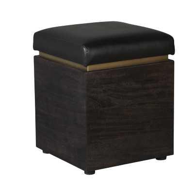 Barraute Leather Storage Ottoman - Wayfair