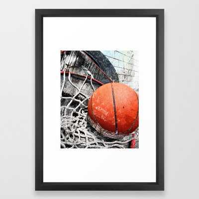 """Modern Basketball Art 8 Framed Art Print, 15"""" x 21"""" - Society6"""