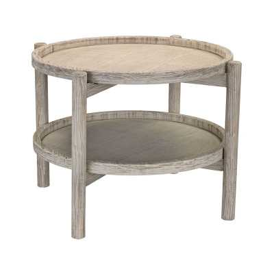 Driftwood Finish Side Table - Rosen Studio