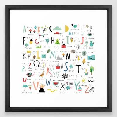 ABC Framed Art Print - Society6