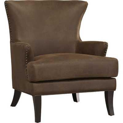 Sirmans Wingback Chair- Brown - Wayfair