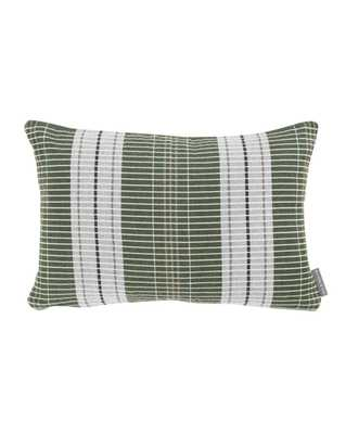"""OXFORD WOVEN PLAID PILLOW WITHOUT INSERT, GREEN, 14"""" x 20"""" - McGee & Co."""
