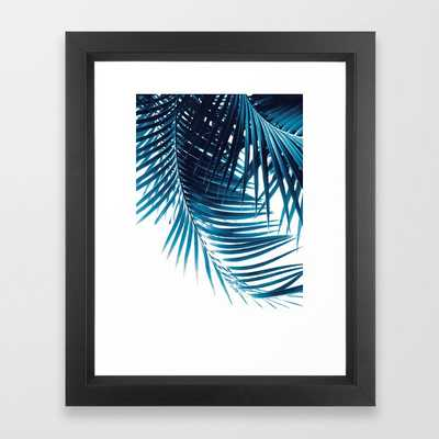 Palm Leaves Blue Vibes #1 #tropical #decor #art #society6 Framed Art Print - Society6