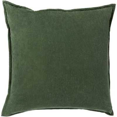 Cotton Velvet 20x20 Pillow Cover with Poly Insert - Neva Home