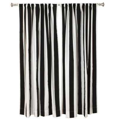 "Striped Unlined Rod Pocket Curtain Panel Pair 50"" W x 84"" L (Set of 2) - Wayfair"