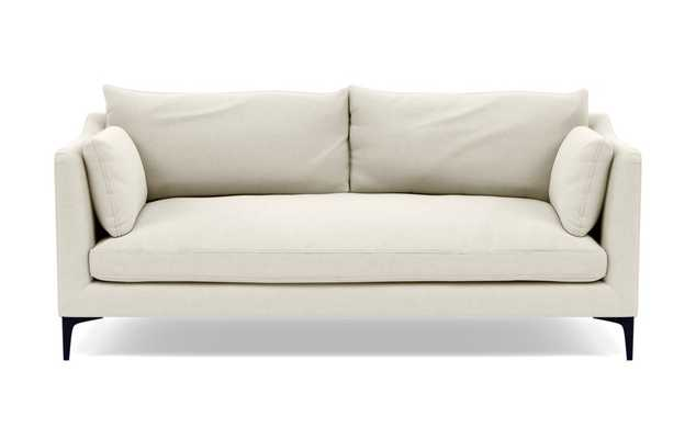 """Caitlin by The Everygirl Sofa in Ivory Fabric with Brass Plated legs - 83"""" - Interior Define"""