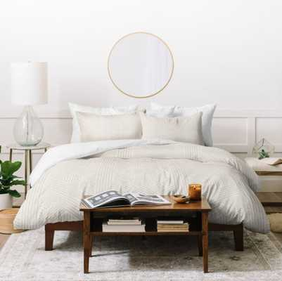 AMAI BEIGE Full/Queen Duvet Cover By Holli Zollinger - Wander Print Co.