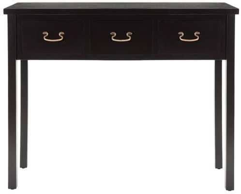 Cindy Console With Storage Drawers - Black - Arlo Home - Arlo Home
