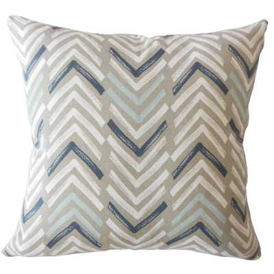 Barend Geometric Pillow Driftwood ,Pillow Cover Only - Linen & Seam