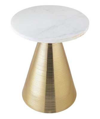 Heidi Marble Side Table - Maren Home