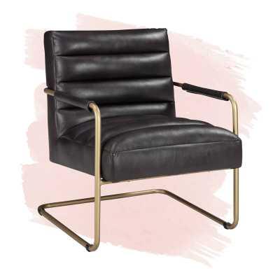 """Isaac 28.5"""" W Faux Leather Armchair - Wayfair"""