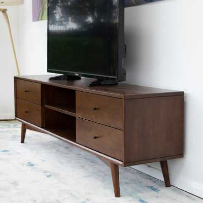 """Erbe Solid Wood TV Stand for TVs up to 88"""" - Wayfair"""