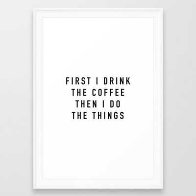 Coffee Framed Art Print - Society6