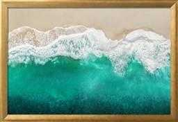 Teal Ocean Waves From Above I - art.com
