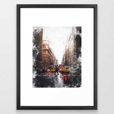 New York Streets Framed Art Print by Canvas the Globe - Society6