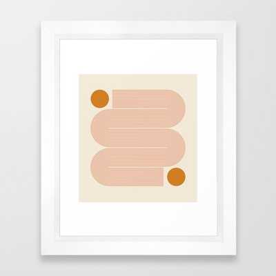 "sun line - 10"" X 12"" - vector white - Society6"