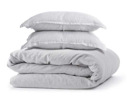 Linen Duvet Cover Set Duvet Cover + 2 King Shams - FOG - Parachute
