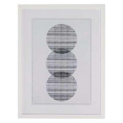 MoDRN Scandinavian Linear Circles Framed Wall Art - Hayneedle