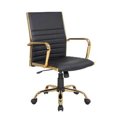 MASTER OFFICE CHAIR - black /gold - Hollis Modern