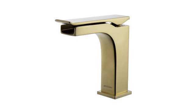 Kai Single-Hole Single-Handle Bathroom Faucet in Brass - Home Depot