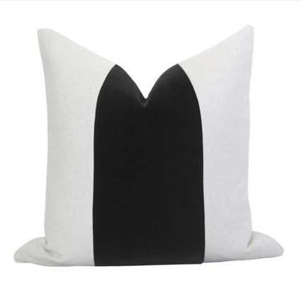 Mezzo Pillow Cover - Black (No Insert) 20x20 - Willa Skye