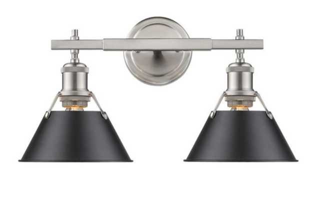 TRUNCATED CONE SHADE VANITY LIGHT - 2 LIGHT - Shades of Light
