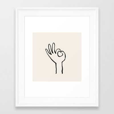 OK hand Framed Art Print - Society6