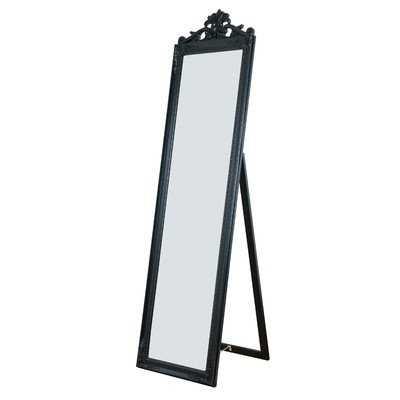 Antiqued Wood Standing Wall Mirror - Wayfair