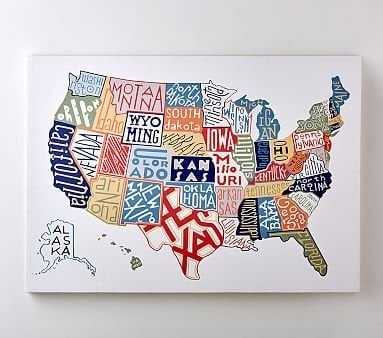 USA Map Art - Pottery Barn Kids